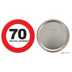 Button 70 jaar and still standing