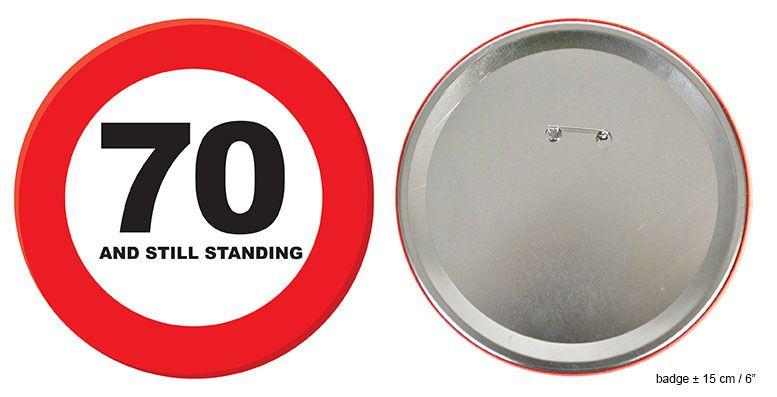 Button 70 jaar and still standing