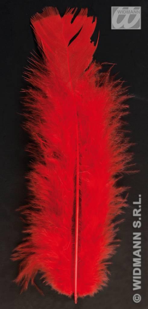 Zakje met 50 veertjes rood
