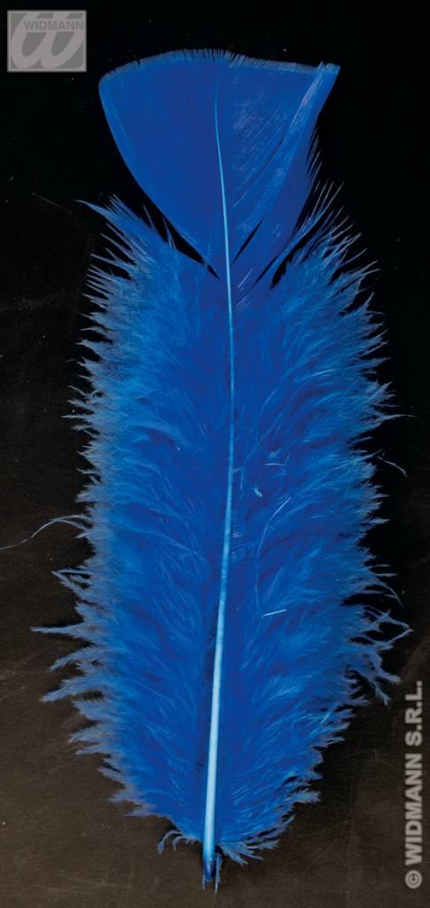 Zakje met 50 veertjes blauw