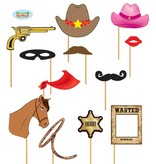 Photo booth props Cowboy 12st