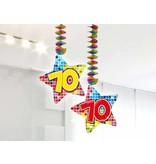 Spiraalversiering Birthday Blocks 70 jaar - 2 stuks