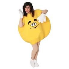 M&M Kostuum Volwassenen Geel
