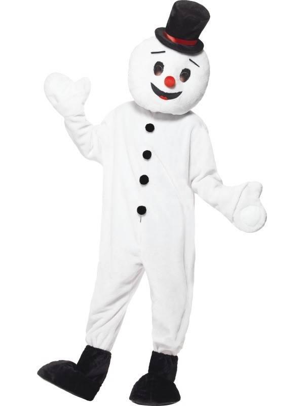 Sneeuwman mascotte pak