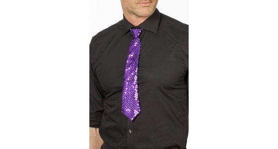 Paarse stropdas - strik
