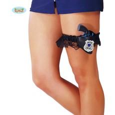 Kousenband met politie pistool