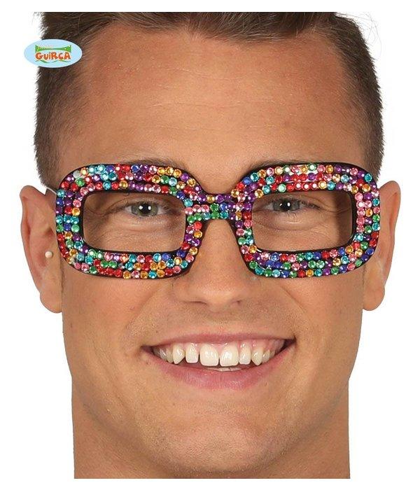 Disco Bril multikleur glinsterend