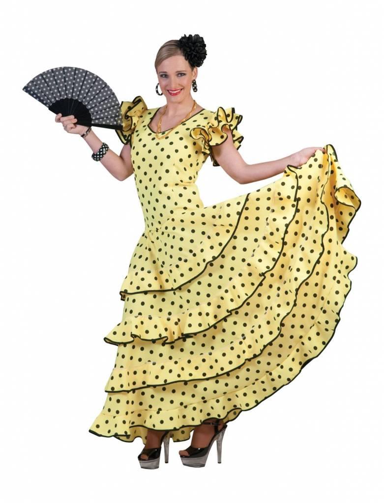 976e6207c63bb5 Flamenco Jurk Spaans Geel € 44.95. Bij  feestbazaarnl.webshopapp.com