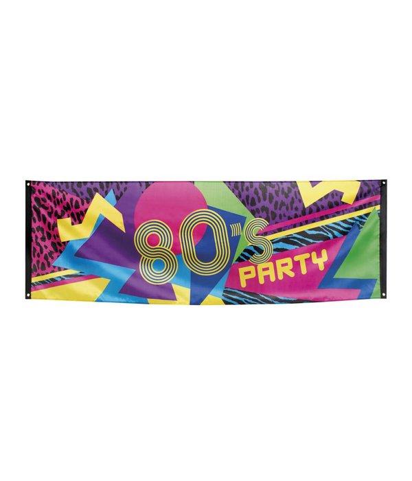 Banner 80' disco party