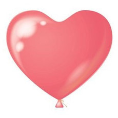 Hartjes ballonnen roze 8 stuks