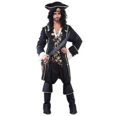 Piratenkostuum zwart/goud man