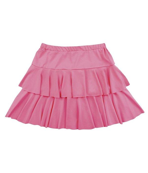 Mini rokje neon roze ruffles