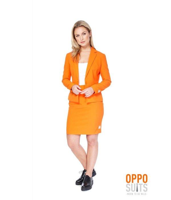 Oranje dames kostuum chique