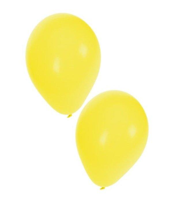 Ballonnen geel 50 stuks