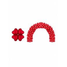 Rode folie ballonnen hartvormig - 10 stuks
