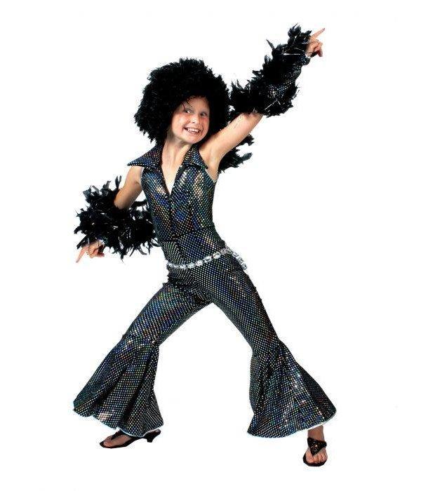 Disco Jumpsuit Kind Zwart