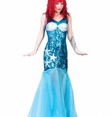 Glitter jurk zeemeermin