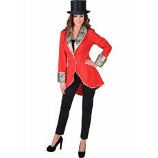 Circus slipjas luxe rood vrouw