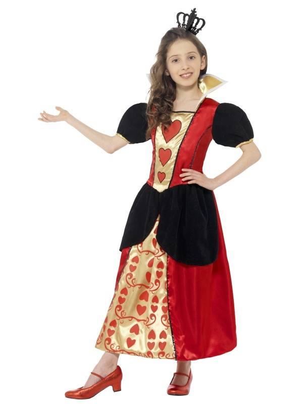 Hartenkoningin kostuum meisje