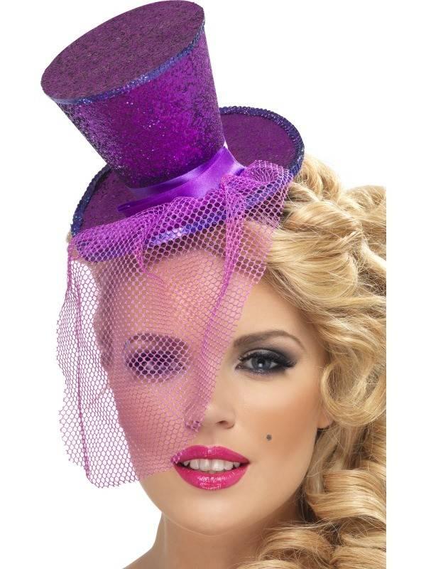 Fever mini hoedje paars
