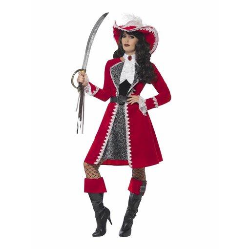 Piratenjurk Rood Luxe Dame