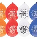 Ballonnen Geslaagd 4 kleuren 8st