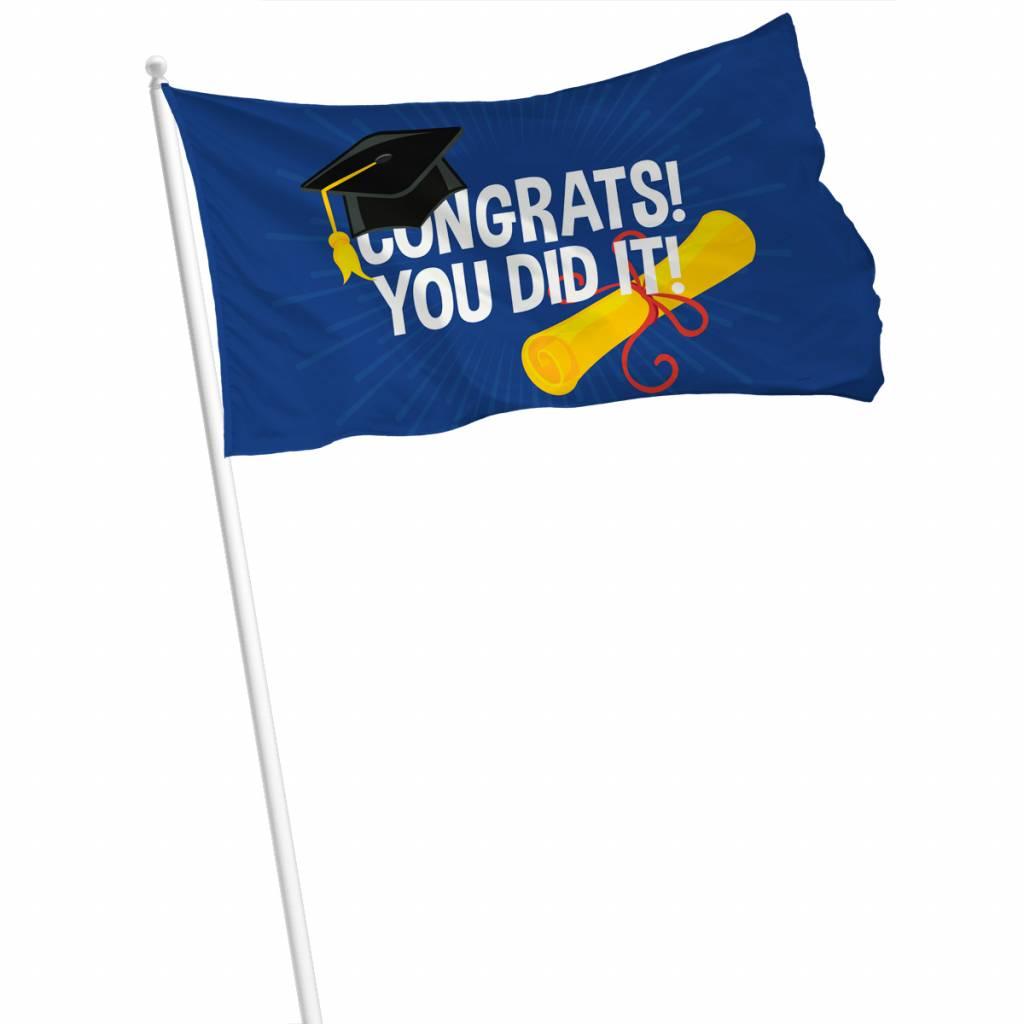 Vlag Congrats! You did it! 90x60cm