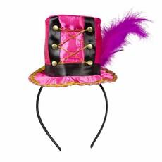 Circus hoedje op tiara roze Toppers