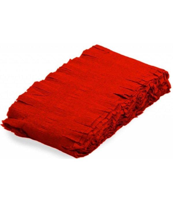 Rode Crepe Papier Slinger Rood 6 meter
