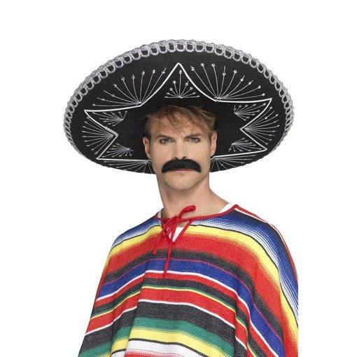 Mexicaanse sombrero zwart