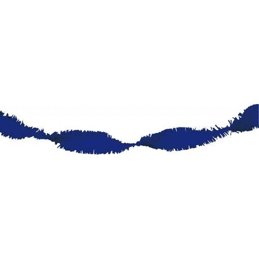 Blauwe Crepe Papier Slinger 6 meter