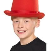 Hoge hoed kind rood
