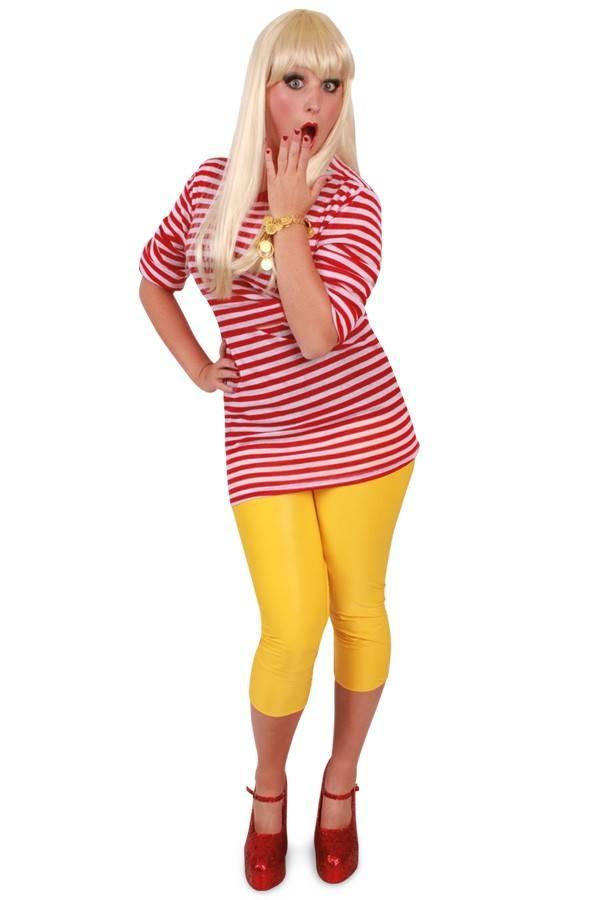 Dorus trui rood/wit lange mouw