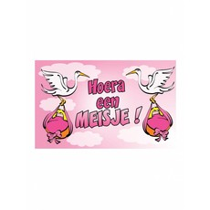 Geboortevlag Hoera een meisje
