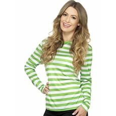 Gestreepte shirt groen/wit