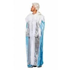 Ijskoning  kostuum blauw