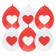 Ballonnen Rood/Wit Met Hart