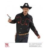 Cowboyshirt met pailletten decoratie