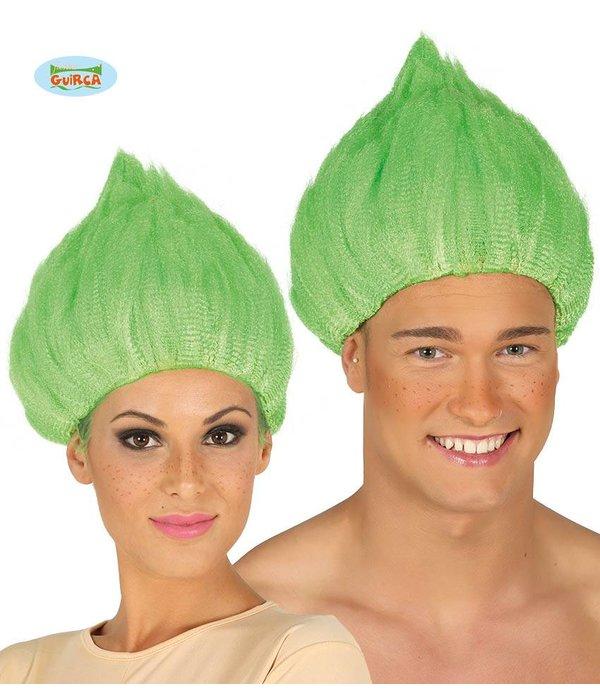 Trol pruik groen
