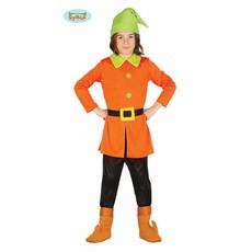 Oranje kabouter kostuum kind