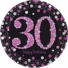 Bordjes 30 jaar sparkling pink
