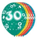 30 jaar verjaardag ballonnen (5st)