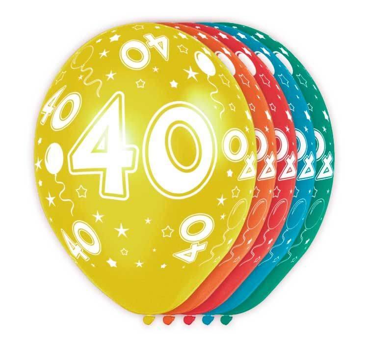40 jaar verjaardag ballonnen (5st)
