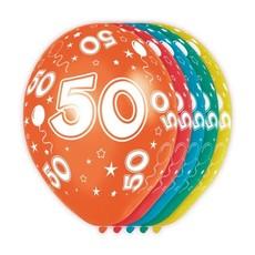 Verjaardag ballonnen 50 jaar (5st)
