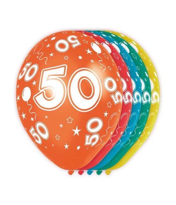 Verjaardag Ballonnen 50 Jaar 5st Feestbazaar Nl