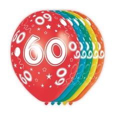 Verjaardag ballonnen 60 jaar (5st)