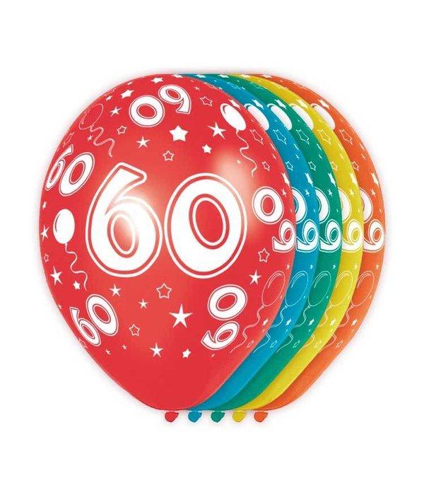 Verjaardag ballonnen 60 jaar 5st for Decoratie 60 jaar