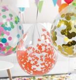 Confetti Ballonnen Wit - 4 Stuks