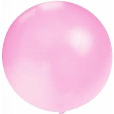 Mega Ballon baby roze 90cm
