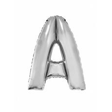 Folieballon zilver letter A groot